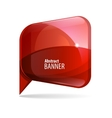 Shiny gloss red 3d banner vector image vector image
