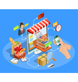 Shopping E-commerce Concept Isometric Poster vector image vector image