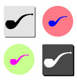 smoke pipe flat icon vector image
