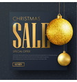 square black banner for christmas sale vector image
