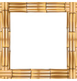 square brown bamboo frame with space for text on vector image