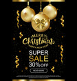 the christmas sale advertising poster for the vector image vector image