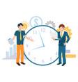 time management deadline work business vector image vector image