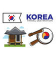 traditional korean temple vector image vector image