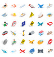 transportation icons set isometric style vector image vector image
