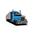 truck trailer vector image vector image