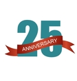 Twenty Five 25 Years Anniversary Label Sign for vector image vector image