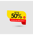 up to 50 special discount label template design vector image vector image
