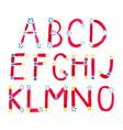 watercolor alphabet vector image vector image