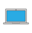 Laptop outline icon Linear vector image