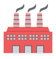 Single Factory Building Flat Design vector image