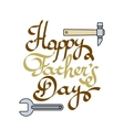 Happy father day Lettering vector image