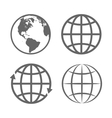 Earth Globe Emblem Logo Template Icon Set vector image