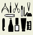 manicure icons nail pedicure and manicure vector image
