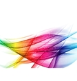 Abstract Colored Wave on Background vector image