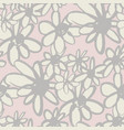 abstract flowers hand drawn seamless pattern vector image vector image