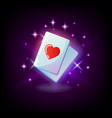 ace hearts red heart suit card ace slot icon vector image