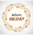 autumn holiday background circle hand drawn frame vector image vector image