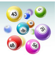balls with numbers of lottery lotto or bingo game
