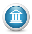 bank glossy icon vector image vector image