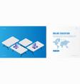 banner online education landing page design vector image vector image