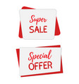 banners for sale offers posters mock up vector image