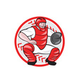 Baseball Catcher Catching Cartoon vector image vector image