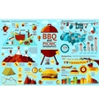 BBQ and Picnic infographics - food 4th of July vector image vector image