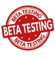 beta testing grunge rubber stamp vector image vector image