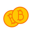 bitcoin simple symbol graphic vector image