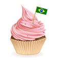 Brazilian Cupcake vector image vector image