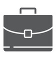 briefcase glyph icon business and bag office bag vector image vector image