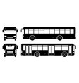 bus black icons vector image vector image