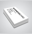 Business Card Mockup vector image vector image