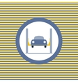 Car lift color flat icon vector image vector image