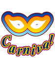 Carnival isolated decoration white holiday shadow vector image vector image