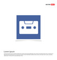 cassette icon - blue photo frame vector image vector image