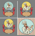 cheerful chef presents vector image vector image