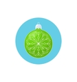 Colorful Icon Christmas Green Ball with Snowflake vector image vector image