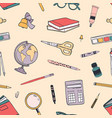 creative back to school seamless pattern vector image vector image
