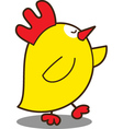 cute chicken vector image