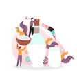 dairy industry concept for web banner vector image