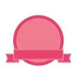 delicate feminine emblem icon vector image vector image