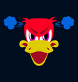flat icon on theme animal evil duck vector image vector image