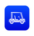 golf club vehicle icon digital blue vector image vector image