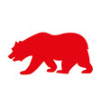 grizzly bear icon vector image vector image
