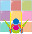 Gymnastics with rings icon in colors vector image