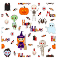 Halloween with letters white vector image vector image