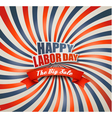 Happy Labor Day Sale Retro Background vector image