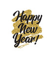 happy new year lettring vector image vector image